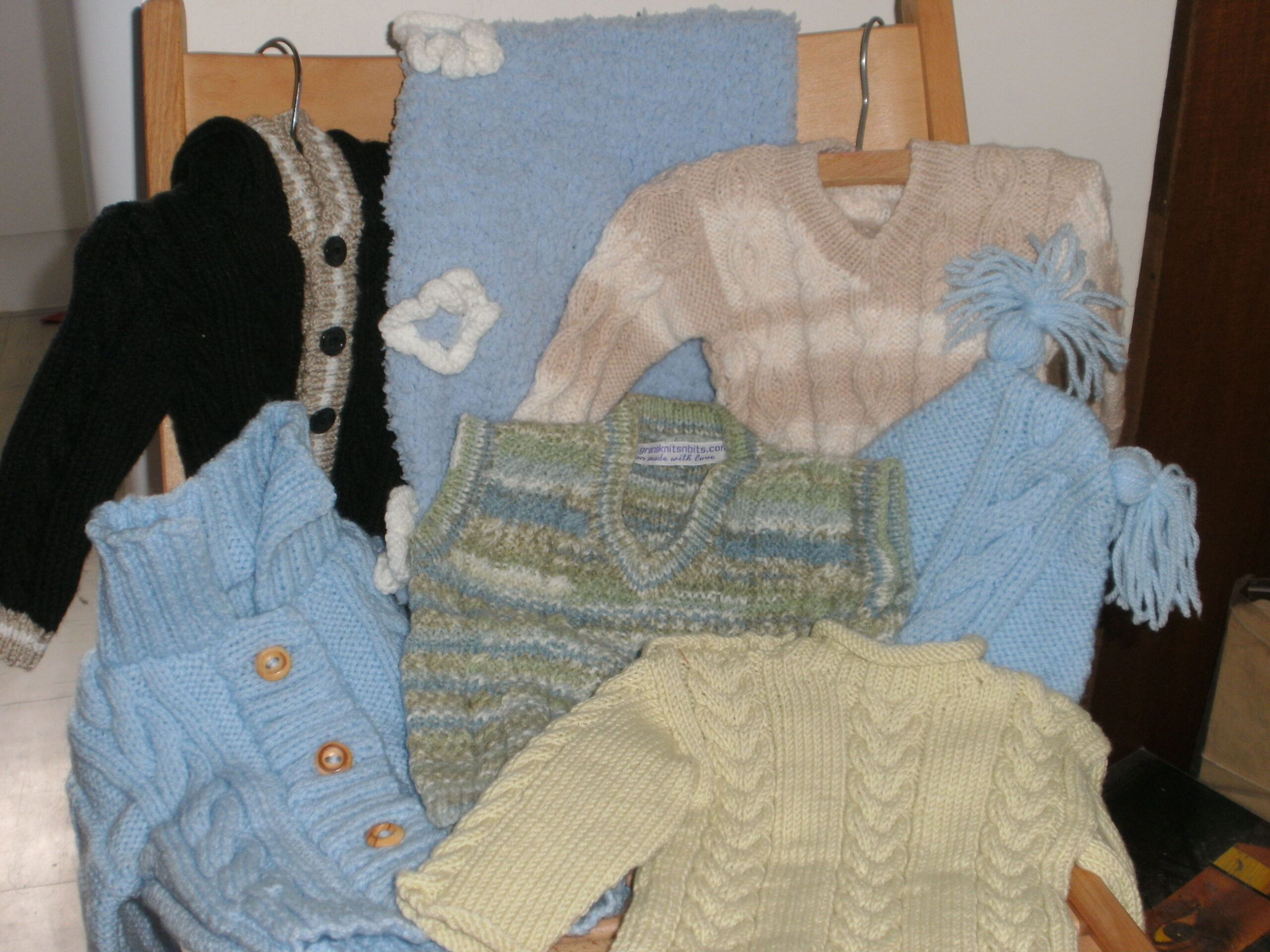 Clearance hand knitted baby items - Grans Knits 'n' Bits